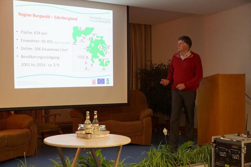 Herr Schulte informiert über die Leader Region